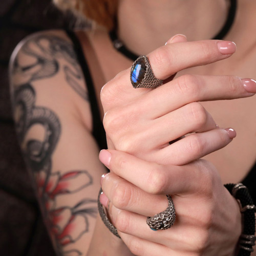 Strain925 sterling silver jewelry collection content rings